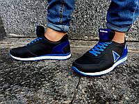 Кроссовки мужские  Reebok черные с синим