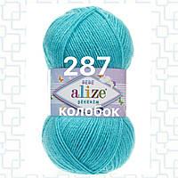 Детская пряжа  для ручного вязания 287 бирюзовый