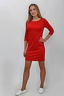 Женское облегающее красное платье размер  34, 36, 38, 40, 42.