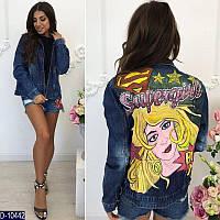 Эксклюзивные джинсовые курточки с рисунком ручной работы