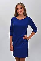 Женское облегающее синее платье электрик размер 34, 36, 38, 40, 42.