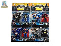 Супергерои  2шт , мотоцикл, 2 вида, на листе 12103