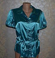 Атласна блуза. стан +! яскрава, стильна!