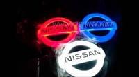 Дверной логотип LED LOGO 070 NISSAN, светодиодный логотип