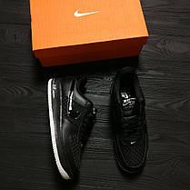Кроссовки мужские Nike Air Force  черные топ реплика, фото 2