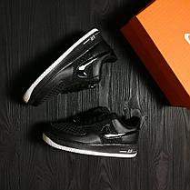 Кроссовки мужские Nike Air Force  черные топ реплика, фото 3