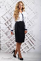 Біла класична блуза у діловому стилі великого розміру 50-54 розміру, фото 1