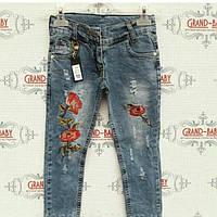 Джинсовые штаны для девочки 10-12 лет