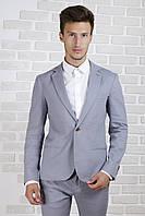 Пиджак светло-серый лён, фото 1