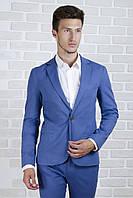 Пиджак голубой лён, фото 1