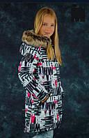 Lenne Tiffy 17363A/1070 пальто-парка р. 146-164 (черно-белая)
