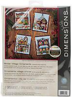 Набор для вышивания Dimensions 70-08954 Зимняя деревня Winter Village Ornaments