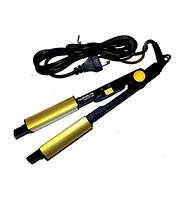 Плойка стайлер утюжок турмалиновый для выпрямления и завивки волос 2 в 1 ROZIA H-705