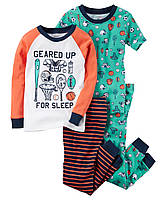 Детская пижама Carters из 4-х частей на мальчика 24 мес (2 года) 83-86 см