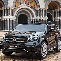Детский двухместный 4-х моторный электромобиль Mercedes-Benz M 3565 EBLR-2, кожаное сиденье и мягкие колеса