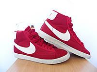Кроссовки Nike Blazer 100% ОРИГИНАЛ р-р 40 (25см) (Б/У, СТОК) найк высокие, красные