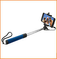 Монопод для селфи (селфи-палка,палка для селфи) Trust Urban Wired Foldable Selfie Stick с кабелем AUX 3,5 Blue