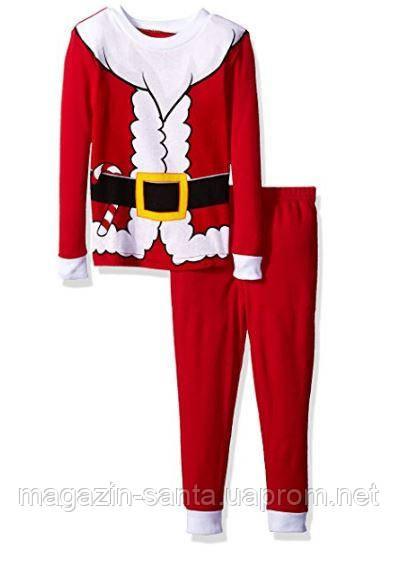 Детская пижама комплект пижама для мальчика  KomarKids Новогодний костюм санта