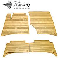 Резиновые коврики Stingray Стингрей Volkswagen Touareg  2002-2010 Комплект из 4-х ковриков Бежевый в салон. Доставка по всей Украине. Оплата при