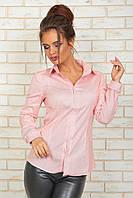 Классическая Рубашка розовая полоска