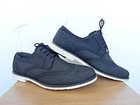 Туфли Next р-р 39 (24,5-25см) (Сток, Б/У)  броги кожаные, фото 1