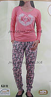 Женские пижамы с брюками на манжете