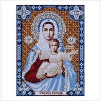 """Схема для вышивки бисером иконы """"Пресвятая Богородица"""""""