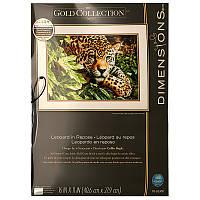Набор для вышивания Dimensions 70-35300 Леопард во время отдыха Leopard in Repose