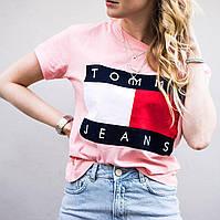 Футболка Tommy Hilfiger женская | Бирки | Розовая Томми Хилфигер