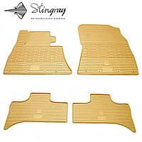 Резиновые коврики Stingray Стингрей BMW X5 (E53) 1999- Комплект из 4-х ковриков Бежевый в салон. Доставка по всей Украине. Оплата при получении