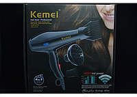 Фен для волос с насадками Kemei KM-3319, сушка для укладки волос