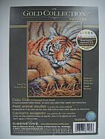 Набор для вышивания Dimensions 70-65105 Спящий тигренок Cozy Cub