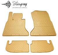 Резиновые коврики Stingray Стингрей BMW 5 (F10) 2014- Комплект из 4-х ковриков Бежевый в салон. Доставка по всей Украине. Оплата при получении