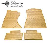 Резиновые коврики Stingray Стингрей Лексус Джи Ес (4 ведущих колеса) 2005- Комплект из 4-х ковриков Бежевый в салон