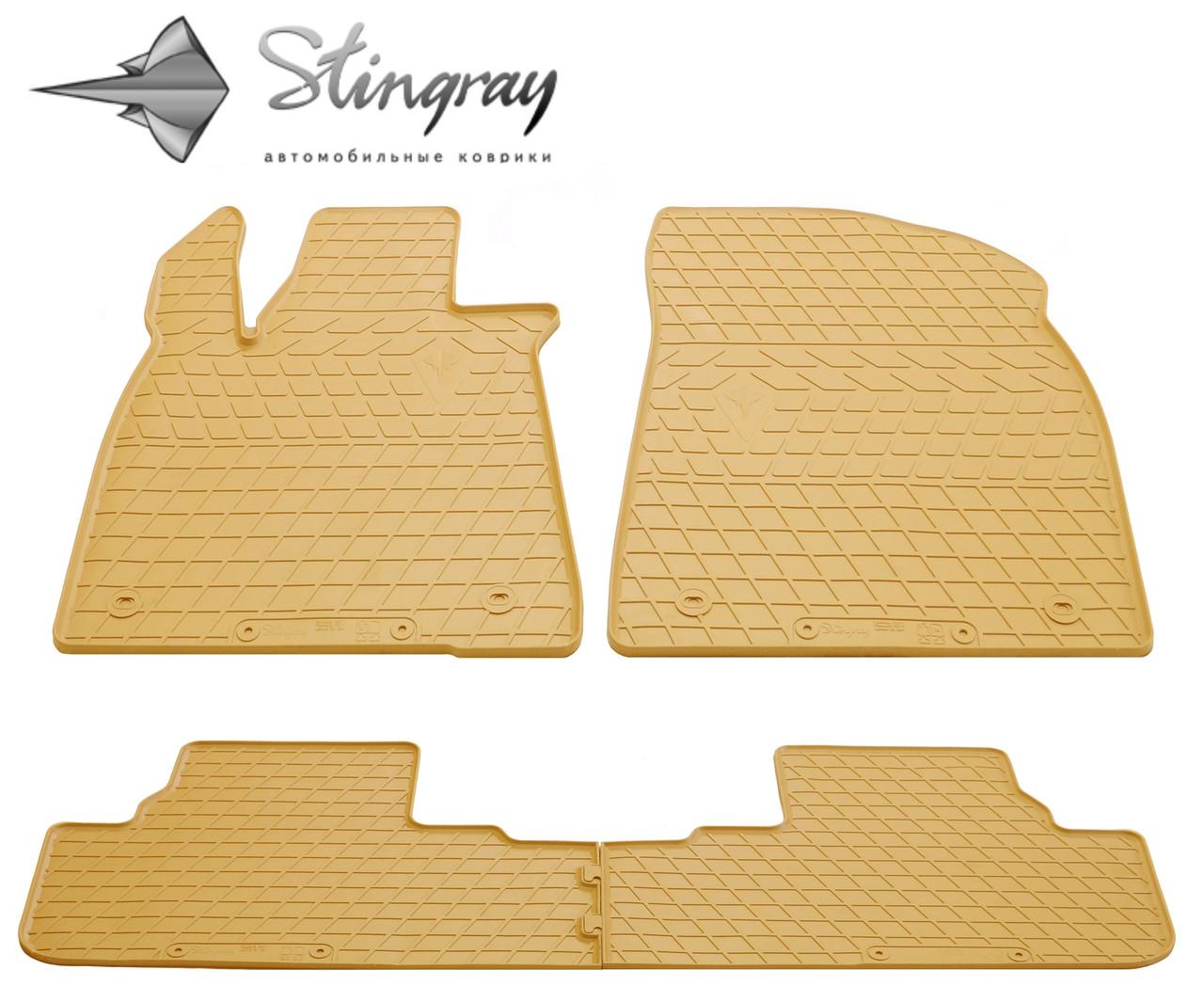 Резиновые коврики Stingray Стингрей Лексус РХ 2015-Комплект из 4-х ковриков Бежевый в салон. Доставка по всей Украине. Оплата при получении