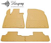 Резиновые коврики Stingray Стингрей LEXUS RX 2015- Комплект из 4-х ковриков Бежевый в салон