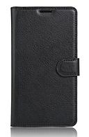 Кожаный чехол-книжка для Samsung Galaxy J7 Prime 2016 черный