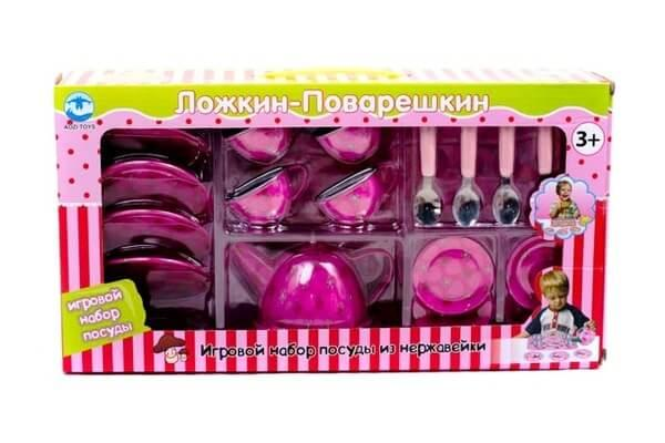 Игровой набор металлической посуды Ложкин-Поварешкин 9798-1 - ДАНКАТОЙС Интернет-магазин детских товаров в Киеве