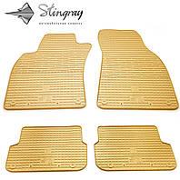 Stingray Модельные автоковрики в салон Ауди A6 (С6) 2004-2011 Комплект из 4-х ковриков (Бежевый)