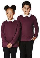 Школьный свитшот-толстовка бордовый на девочку 5-6-7-8 лет Burgundy F&F (Aнглия), фото 1
