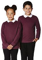Школьный свитер-толстовка бордовый на мальчика 5-6-7-8 лет Burgundy F&F (Aнглия)