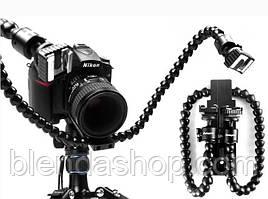 Гибкий держатель DMM-901 - для 2-х устройств на горячий башмак камеры