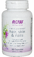 Витамины для волос, Now Foods Hair, Skin & Nails Women, 90 caps,