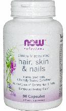 Vitamin для волосся, Now Foods Hair, Skin & Nails Women, 90 caps,