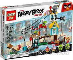 Конструктор Lepin Angry Bird 19004 (Аналог Lego Angry Birds 75824) Разгром свинограда 386 дет