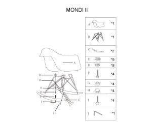 Кухонный стул MONDI (белый)( Signal), фото 2