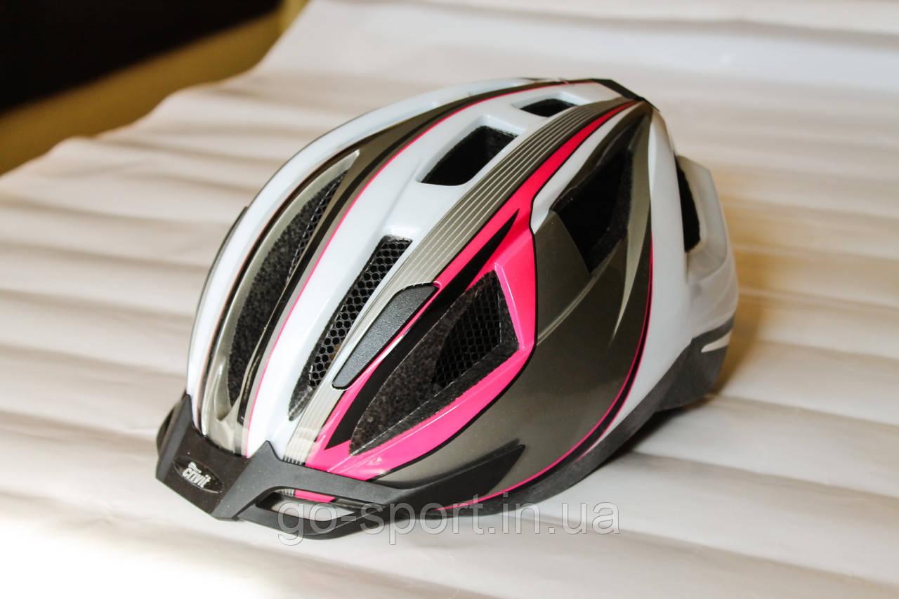 Шлем велосипедный Crivit+Мигалка, Велошлем Crivit, Германия, Оригинал!