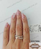Серебряное кольцо с камнями №0373.10