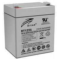 Аккумуляторная батарея AGM RITAR RT1255, 12V 5,5Ah  (90х70х107 мм) Q10