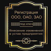Регистрация предприятия (внесение изменений)